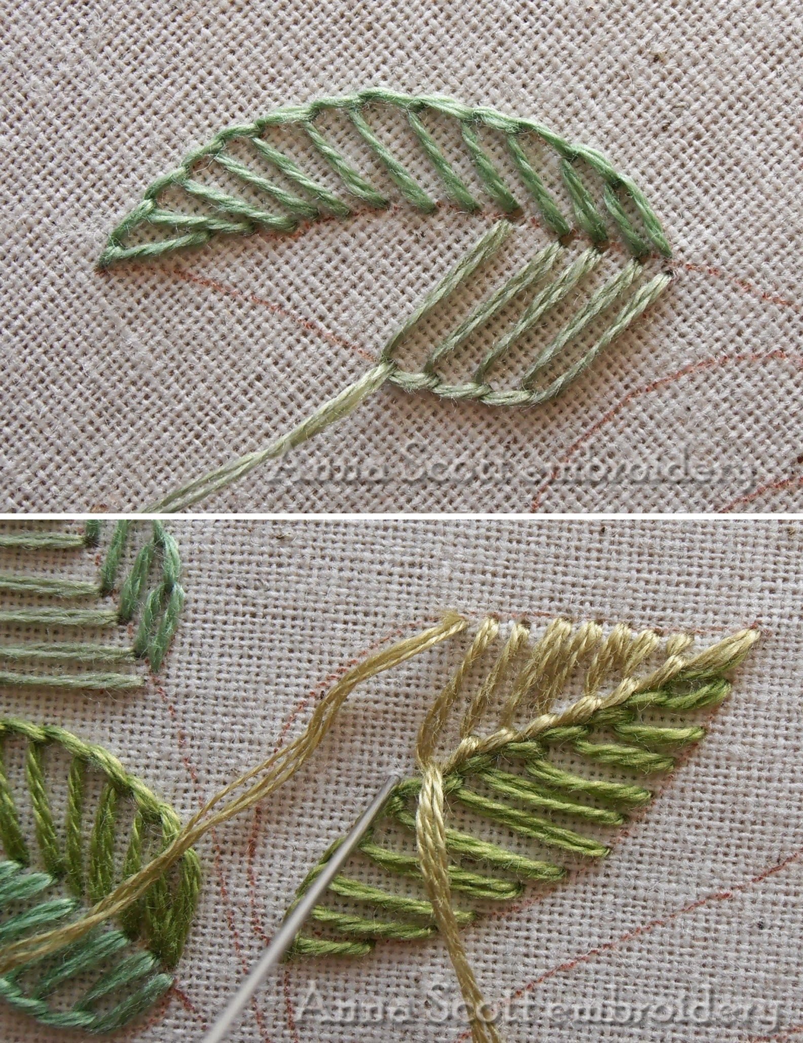 Leaf Embroidery variation