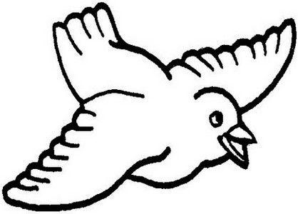 Aves Passaros 65 Atividades E Desenhos Colorir Desenho De Pomba