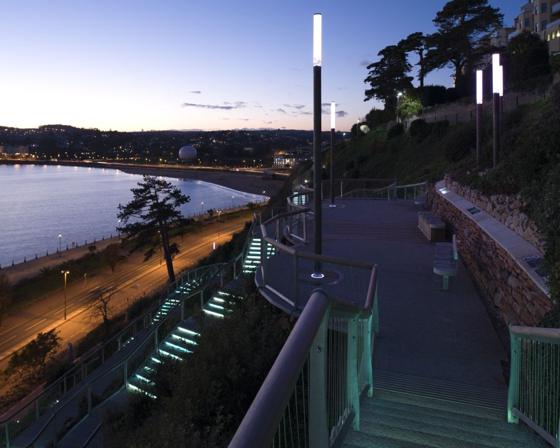 terrace lighting. royal terrace gardens torquay lighting a