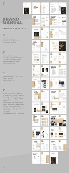 brand manual on behance index book pinterest brand manual