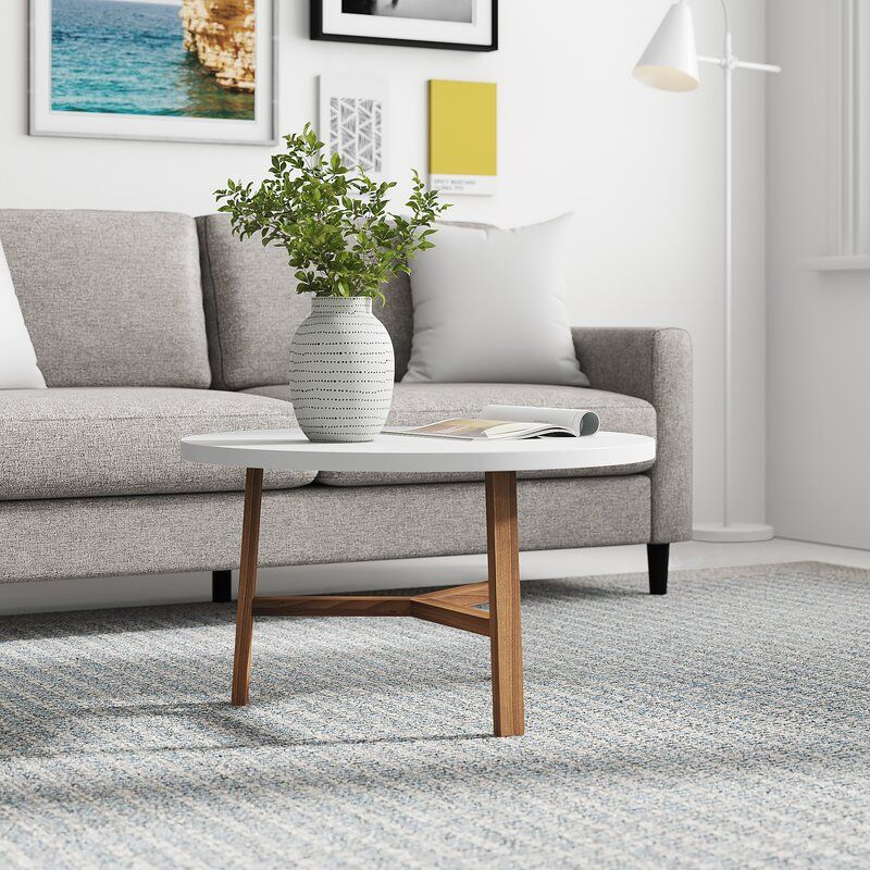Zipcode Design Marisela 3 Legs Coffee Table Reviews Wayfair In 2020 Coffee Table Round Coffee Table Coffee Table Setting