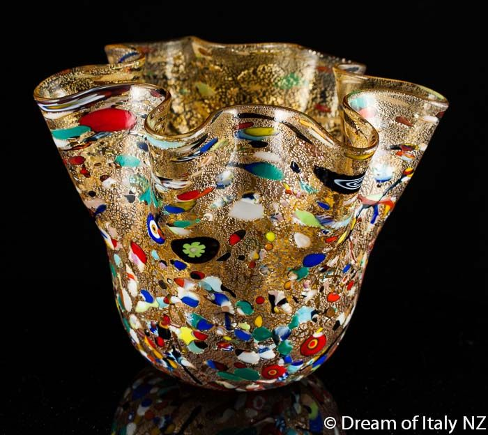Murano Glass Vase Fazzoletto Large At Dreamofitaly Murano