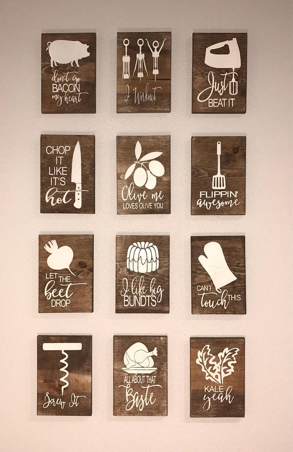 Fun Kitchen Signs Wooden Kitchen Signs That Play On Song Wooden