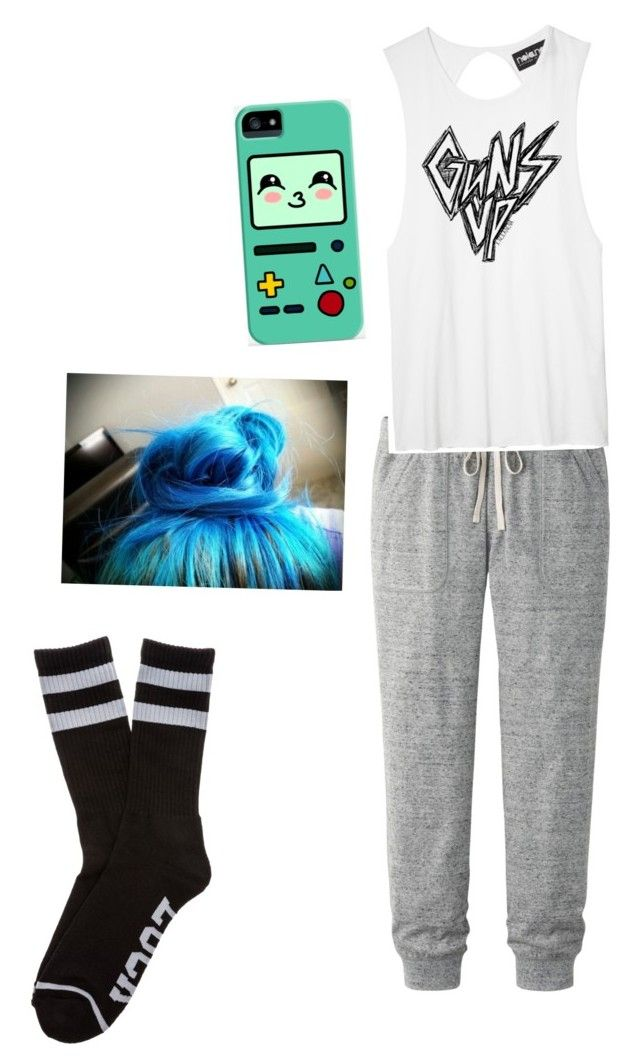 """""""The start of bummy day #1"""" by kailaj3501 ❤ liked on Polyvore featuring Uniqlo, HUF and Samsung"""