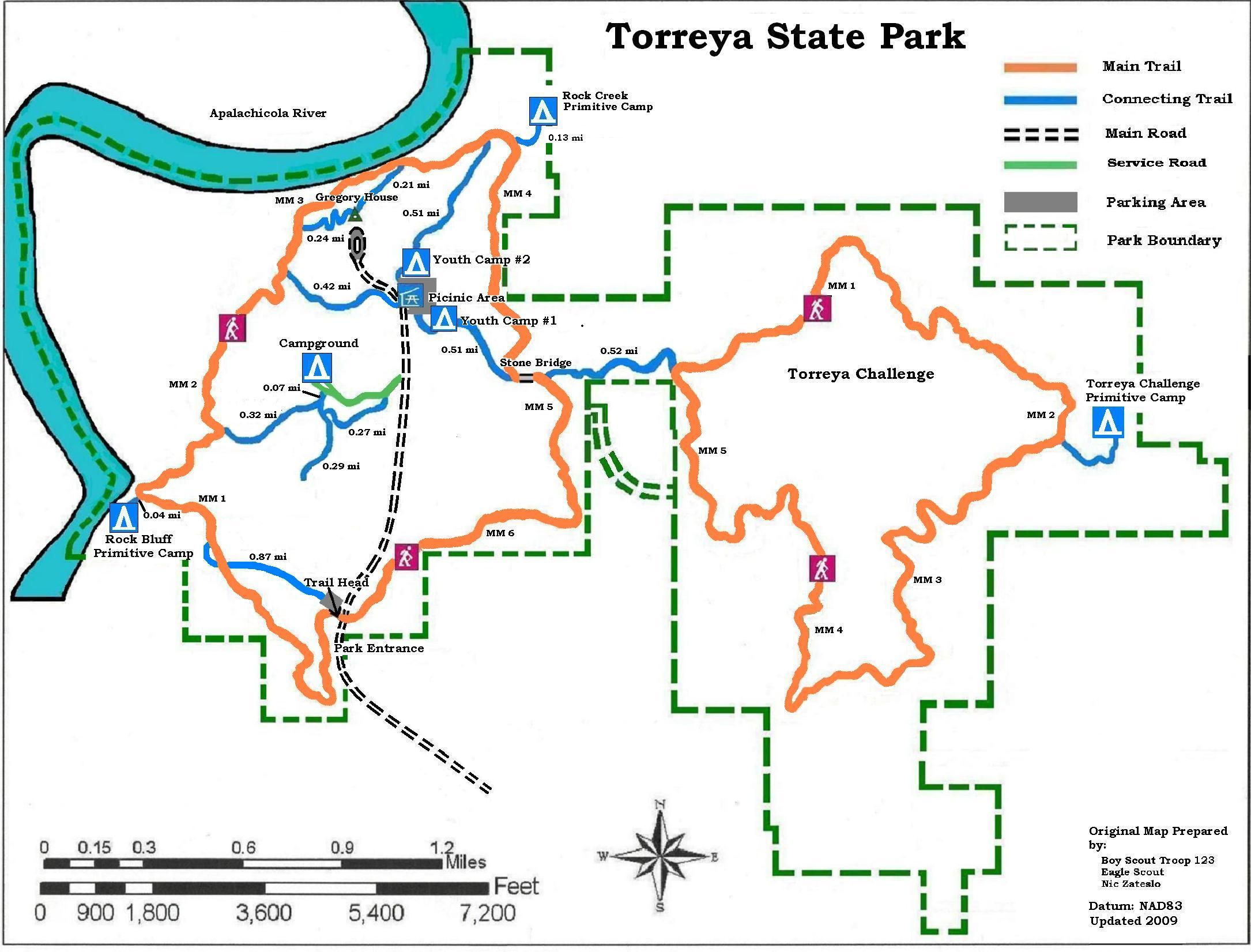 Apalachicola National Forest Campgrounds Map Of Torreya State Park