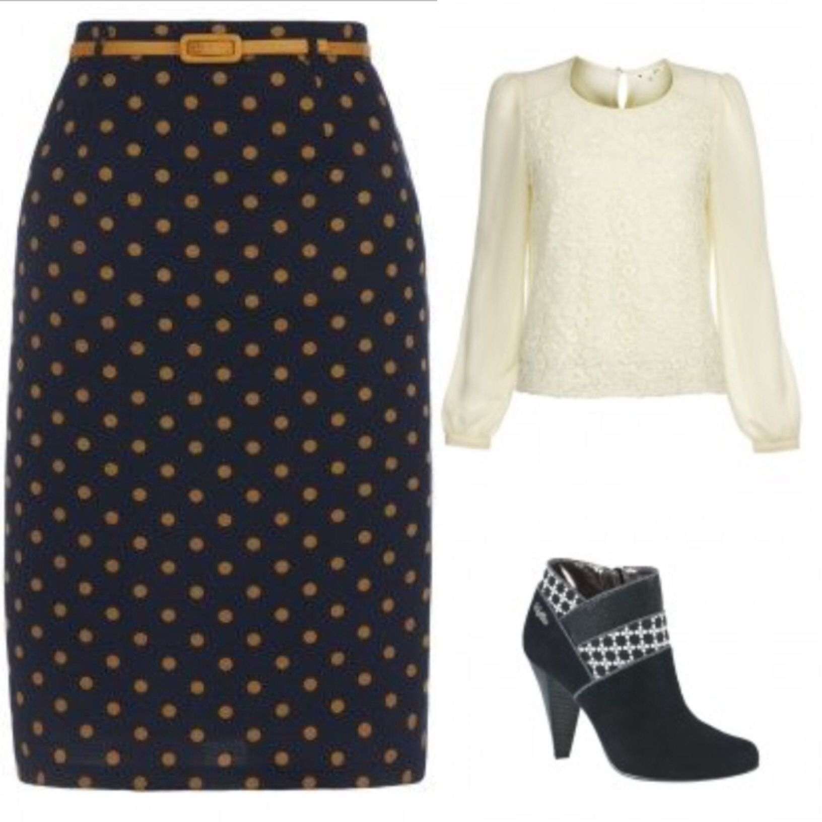 LOVE this skirt, would make a great work-into-nighttime look with the Yumi lace fronted blouse and the gorgeous heels. @Yumi Direct  #pintowin #adore @Yumi Direct