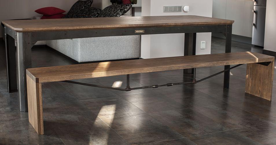 "Table ""DIESEL 45"" & bench ""CB 45"" by INDUSTRIART  #industriart #industriel #industrial #industrialstyle #custom #customfurniture #furniture #metal #metalfurniture #wood #woodwork #metalwork #woodfurniture #interior #loft #loftstyle #мебель #лофт #индустриарт #интерьер #стол #table #bench #лавка #скамья de industriart.ru"