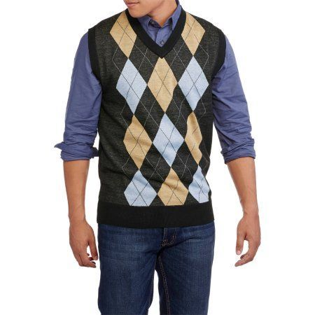 Mens V Neck Argyle Sweater Vest Size Small Products Pinterest
