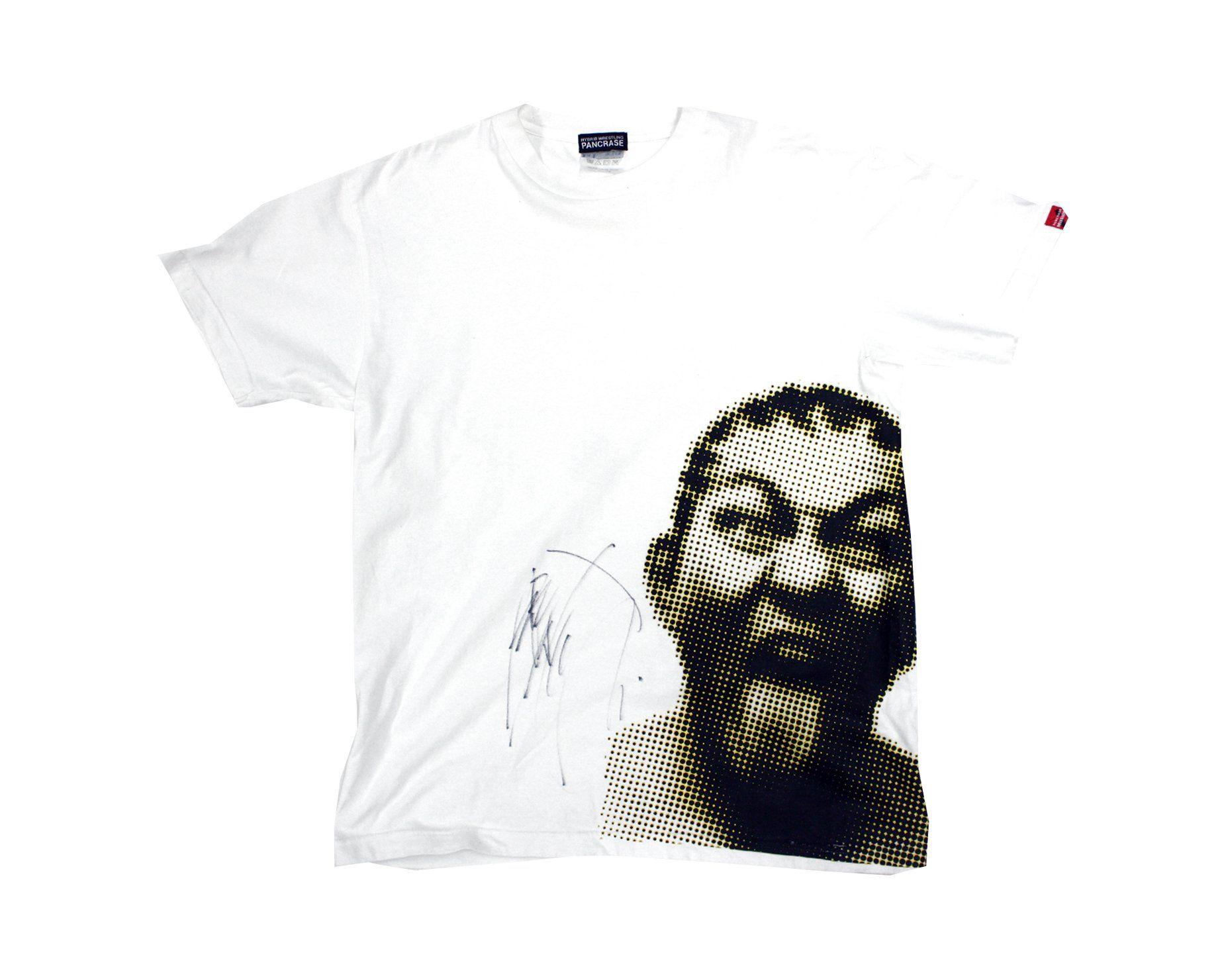 Pancrase Minoru Suzuki Dots T Shirt Lg Signed T Shirt Shirts Mens Tshirts