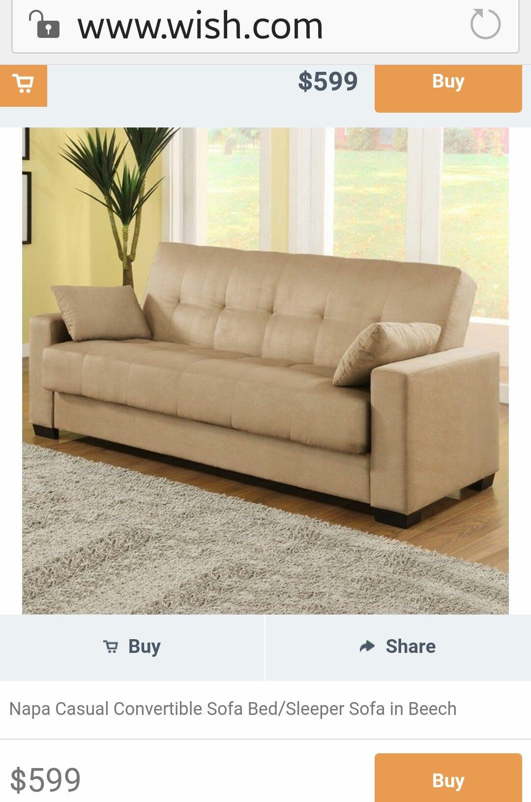 Napa Casual Convertible Sofa Bed/Sleeper Sofa in Beech | FOR THE ...
