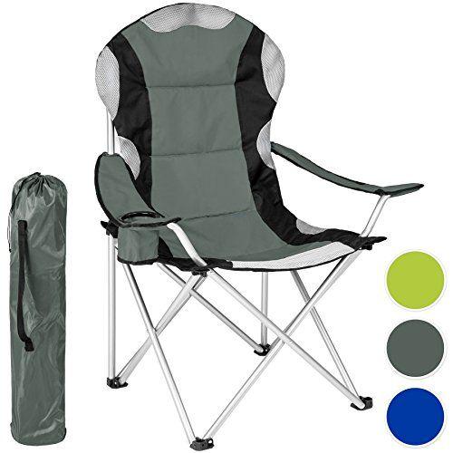 TecTake Chaise de Camping Fauteuil Pliable Porte boisson Sac