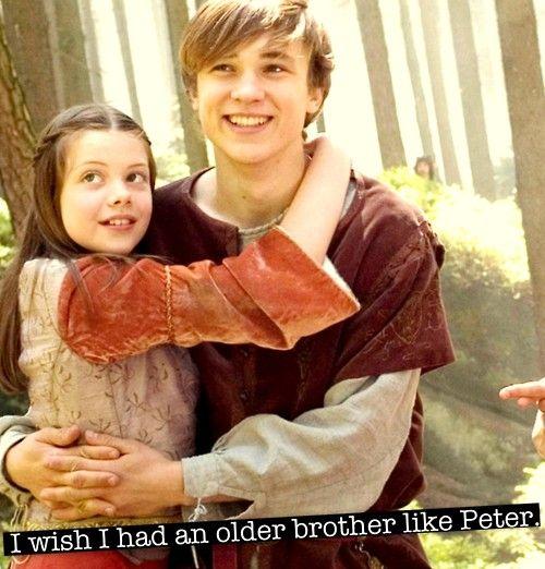 I WISH I HAD AN OLDER BROTHER LIKE PETER!!!!   NARNIA ...