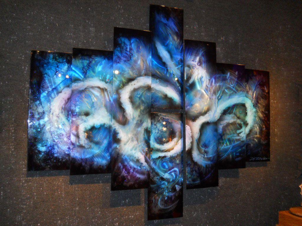Abstract art on sheet metal. 8 Panel design. Chris DeRubeis is the ...