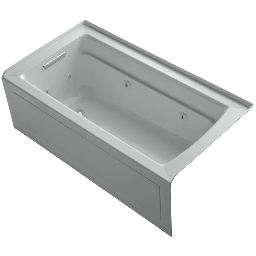 KOHLER Archer 5 ft. Whirlpool Tub in Ice Grey   Products