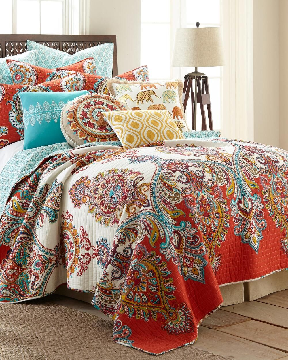 Paisley Luxury Quilt Collection-Quilts-Bedding-Bed & Bath | Stein ... : designer quilts bedding - Adamdwight.com