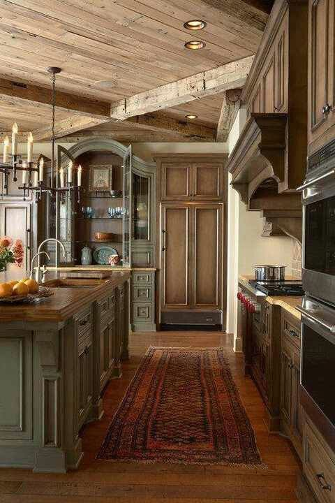 100+ Country Style Kitchen Ideas for 2018 Kitchens, Stove and House