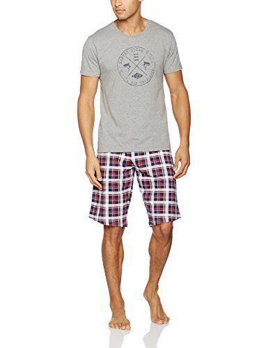 ESPRIT Bodywear 017EF2Y006, Ensemble De Pyjama Homme, Gris (Grey), Medium: Tweet