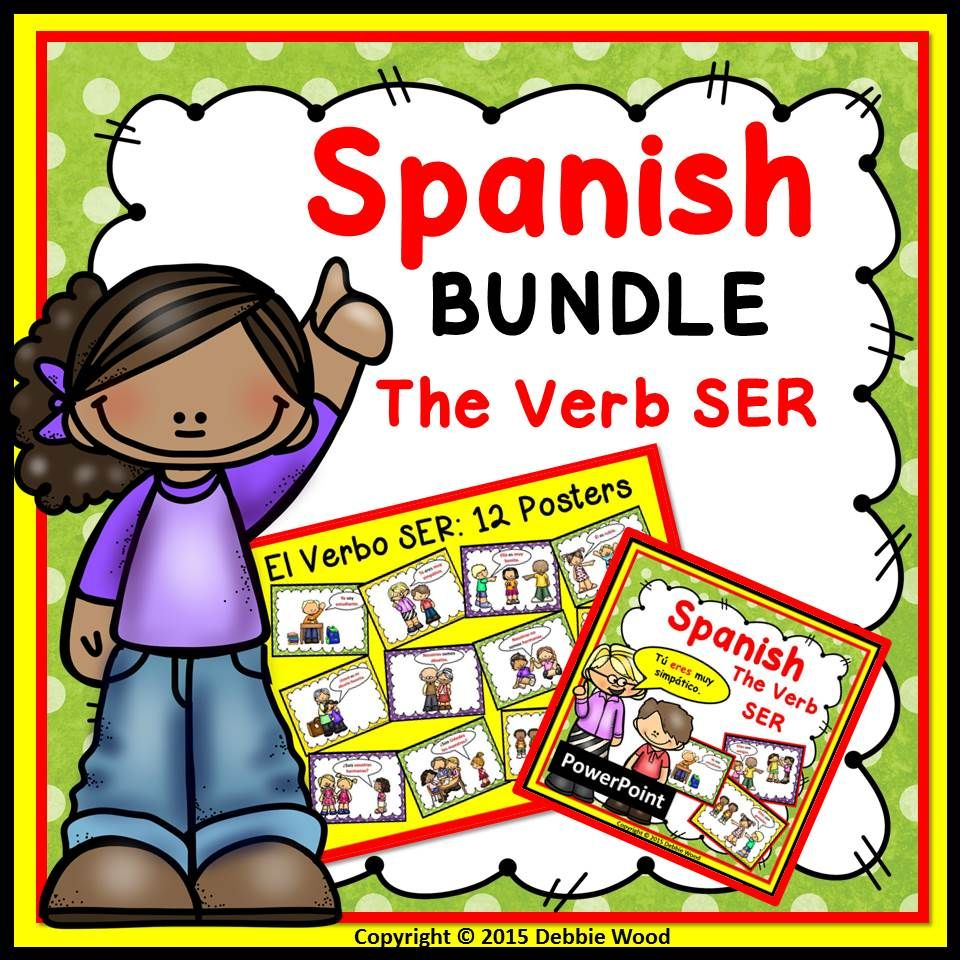 Perfect For Level 1 Spanish Class All The Visuals Make It So Much Easier For Students To Understand The Irregula Verb Ser Teaching Verbs How To Speak Spanish [ 960 x 960 Pixel ]