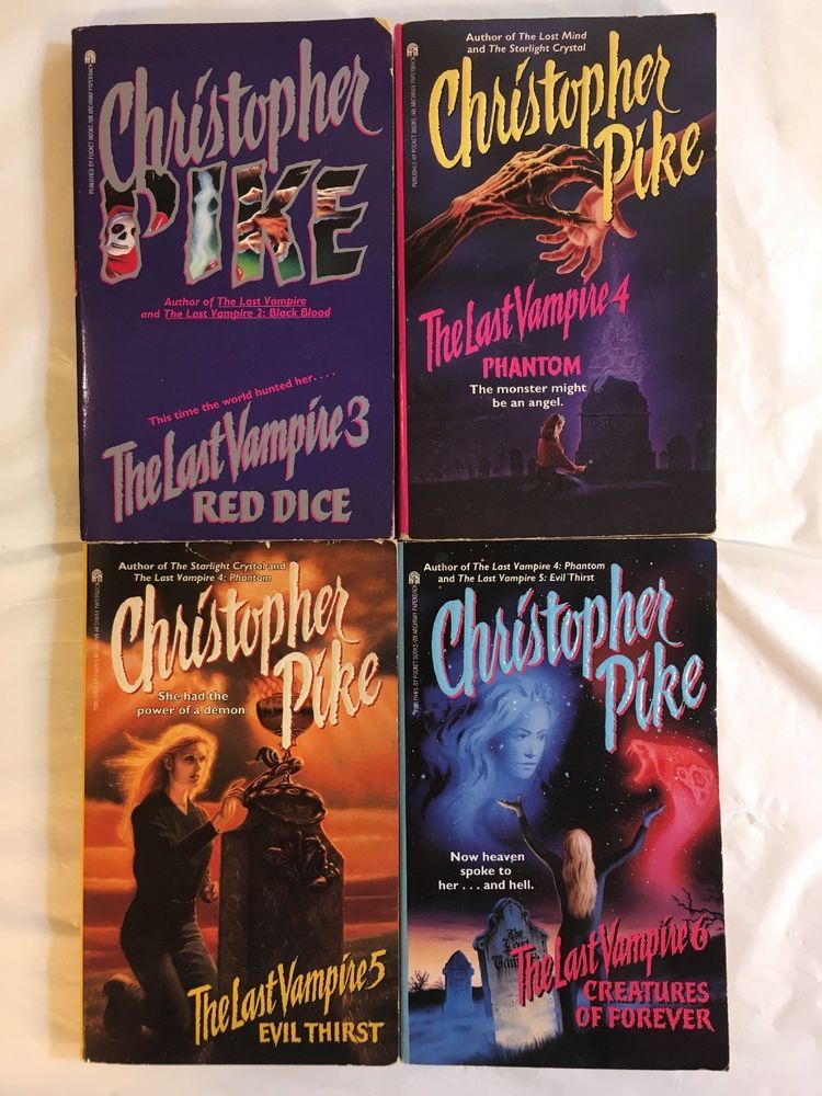 Christopher Pike Last Vampire Book Lot Series 3 4 5 6 4 Books