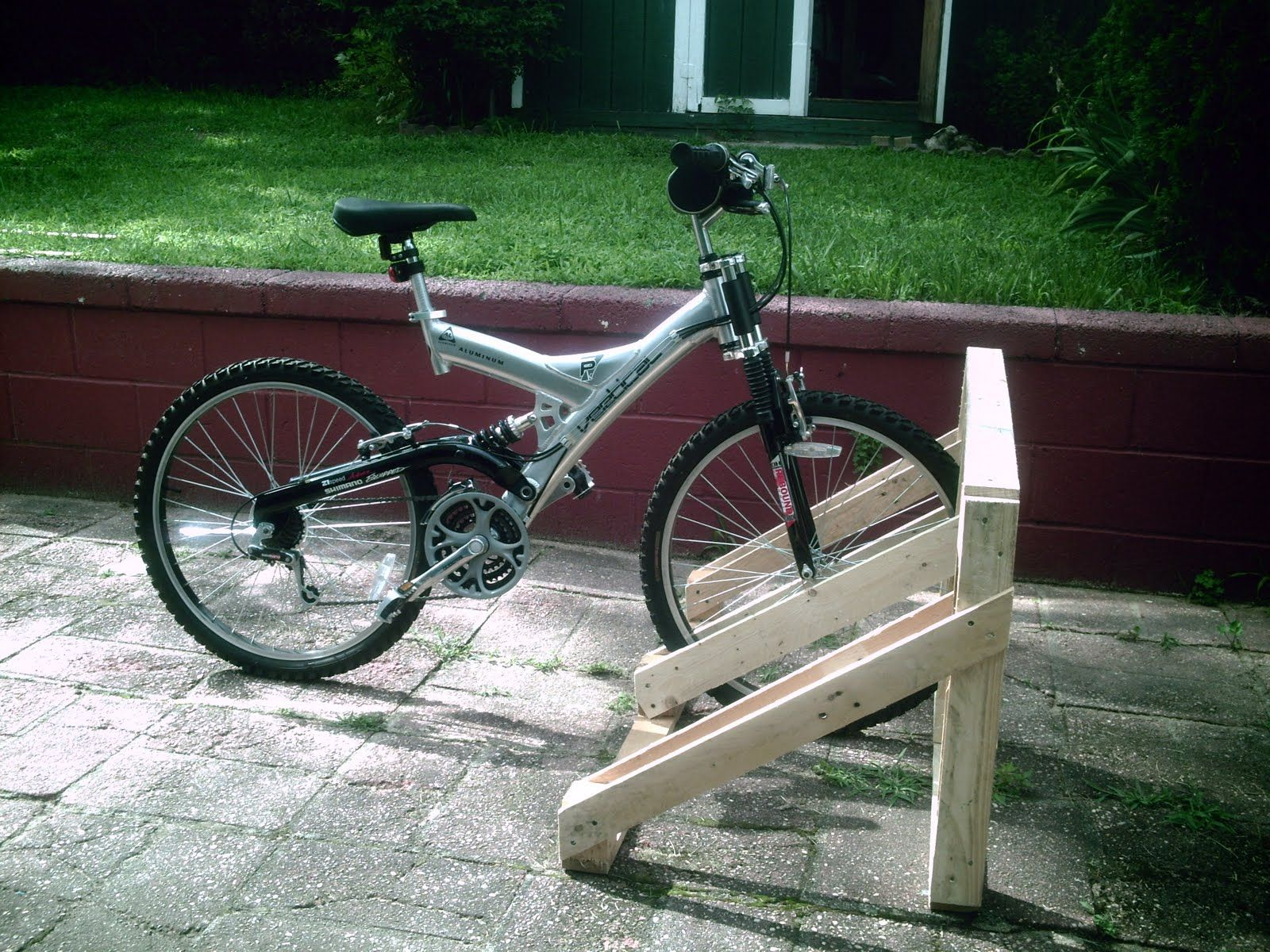 Build A Wood Bike Rack Google Search Around The House