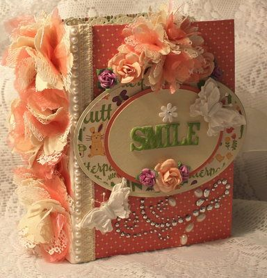 Momzcindy Asmile Shabby Spring Premade Scrapbook Album