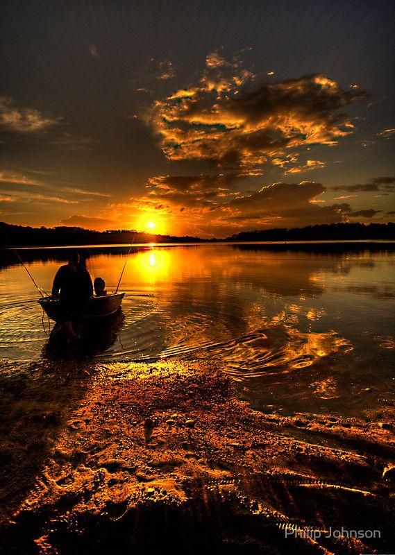Light Tackle Sunrise Beautiful Sunrise Fishing Photography