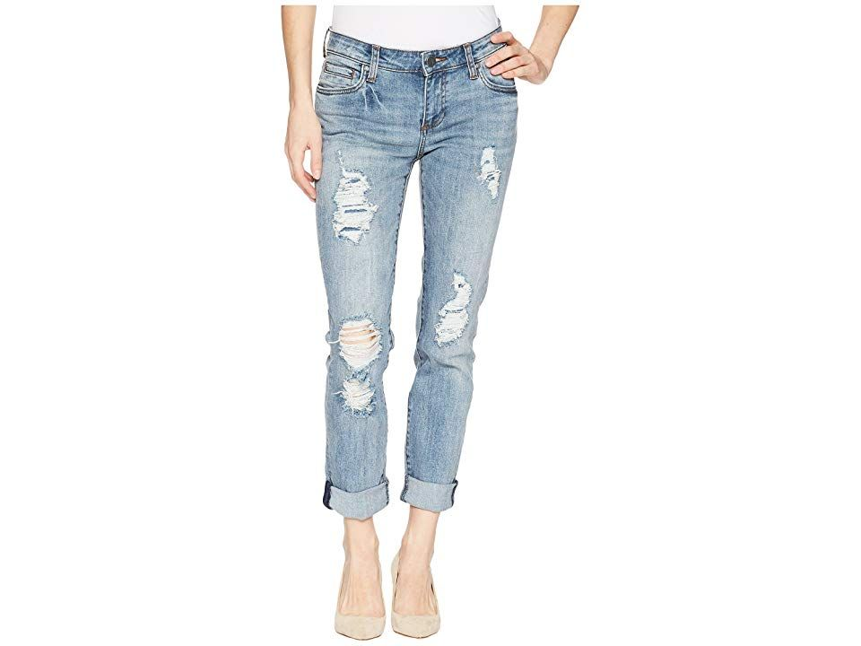 KUT from the Kloth Catherine Boyfriend FivePocket in Attract Attract Womens Jeans The Catherine boasts a relaxed fit and a straight leg that brings the easygoing feel of...