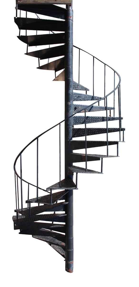 Best Industrial Cast Iron Spiral Stair Case Stairs Loft 640 x 480