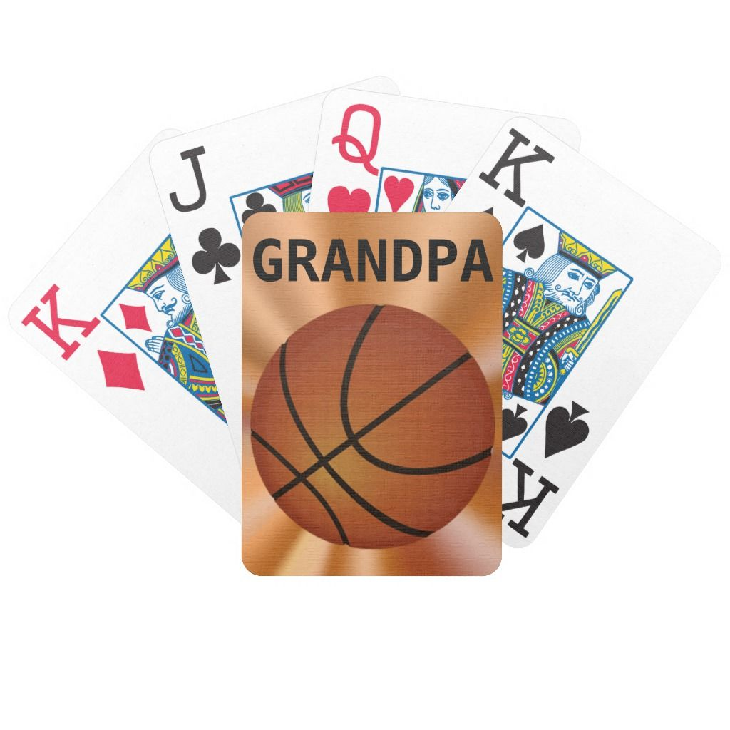 Big Print Playing Cards Basketball Playing Cards Zazzle Com Playing Cards Personalized Deck Of Cards Senior Night Gifts