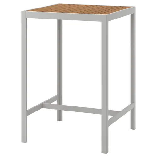 Sjalland Bar Exterieur Brun Clair Gris Clair Ikea En 2020 Table Bar Ikea Gris Clair