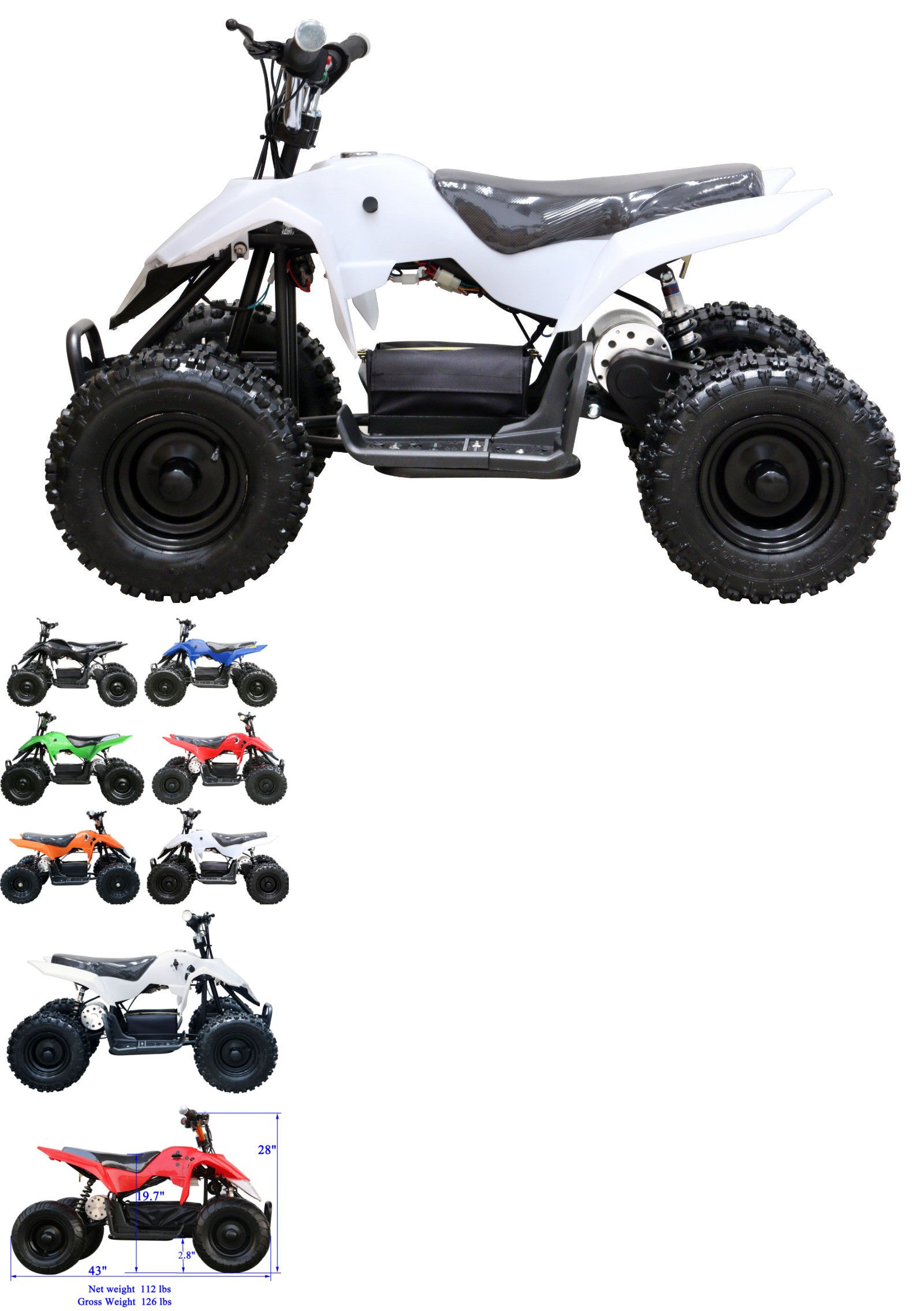 Complete Go Karts And Frames 64656 24v 500w Kid Electric Atv Mini Quad Bike White New It Now Only 626 On Ebay