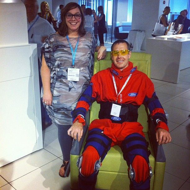 """""""@nurtureasks with @hotlead and empath and the @ford 3rd age suit at #neocon12 #neoconography""""   -- @MetropolisMag"""