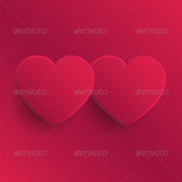 Two Pink Hearts Pink Heart Valentines Day Background Valentine S Day Diy