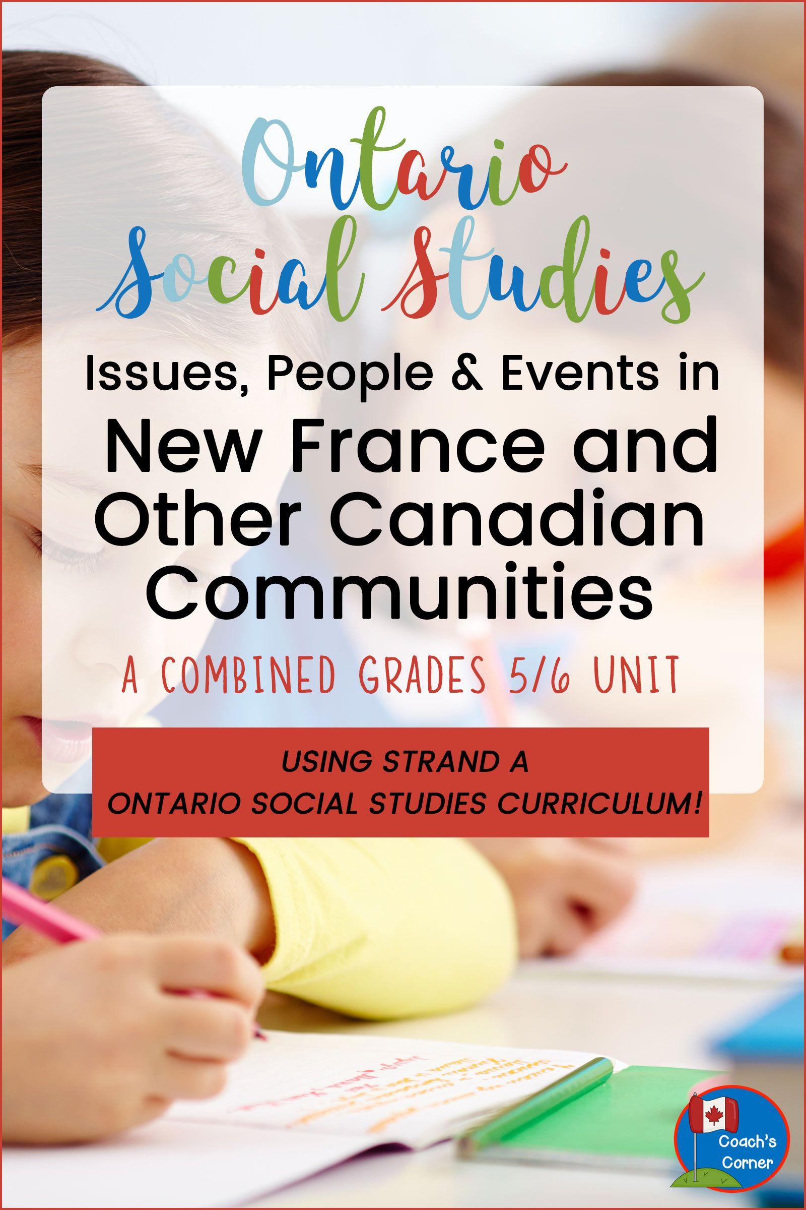 Ontario Grade 5 6 Social Stu S Strand A Heritage And