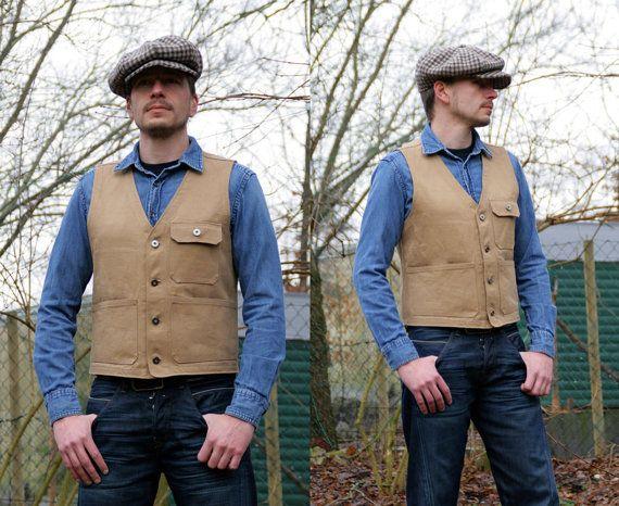 Selvedge Denim Work Vest  Made to order by Hepville on Etsy, €198.00