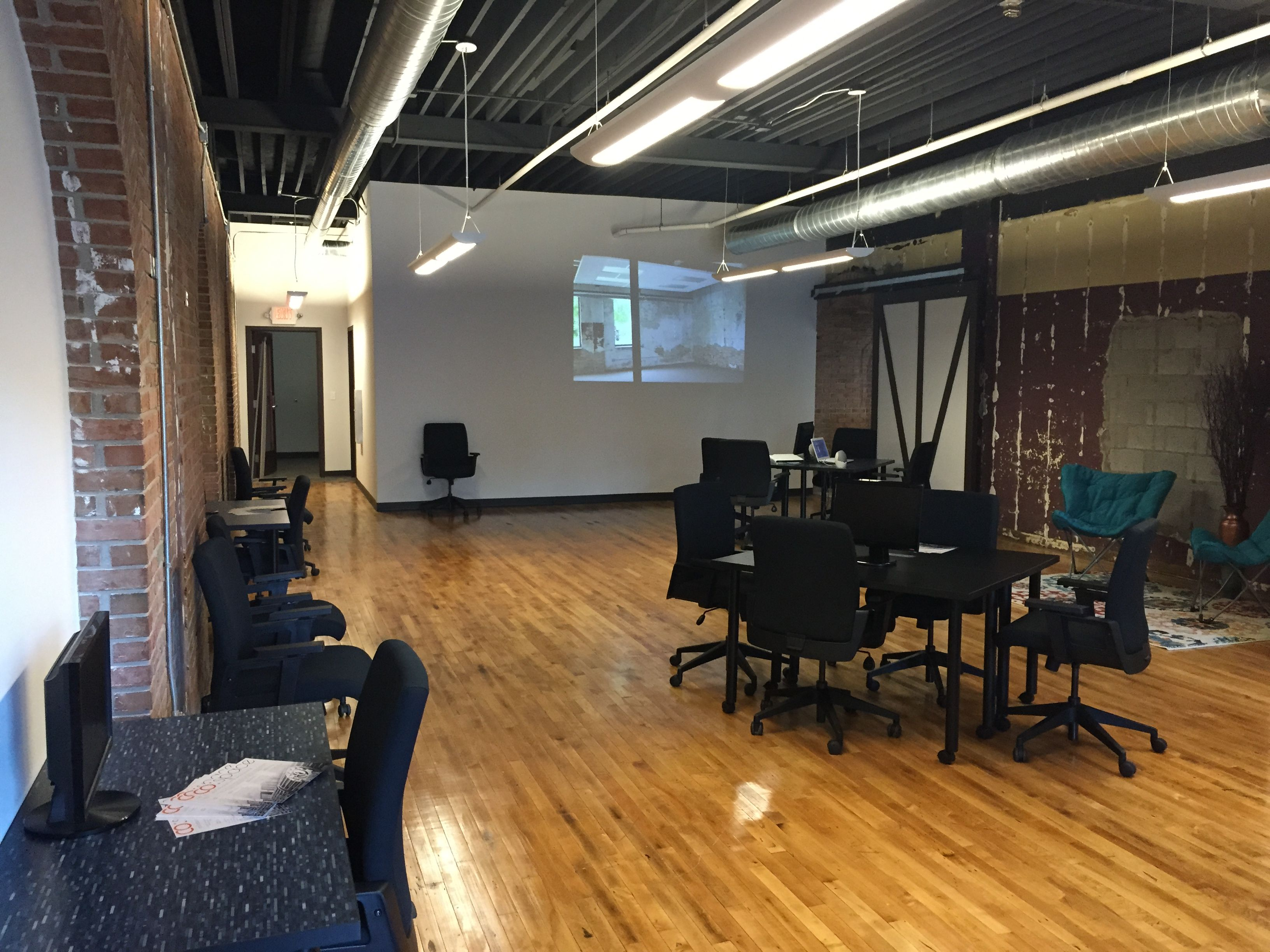Open space work area at our new Lansing facility. Lansing
