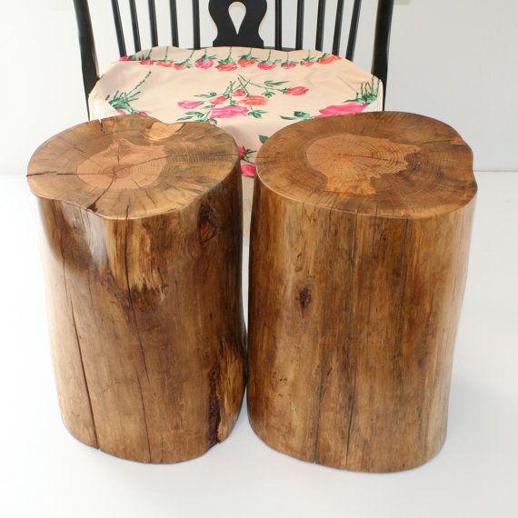 Stained Tree Stump Coffee Table Stump Table Stool Seat