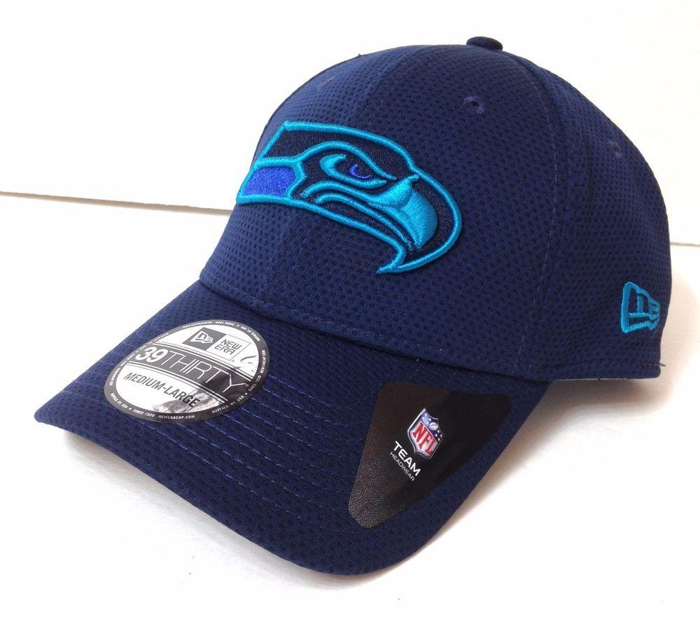New Era SEATTLE SEAHAWKS HAT Navy Blue Teal Purple FLEX FIT M L  7-1 4-3 8-1 2  NewEra  SeattleSeahawks f007b0e26