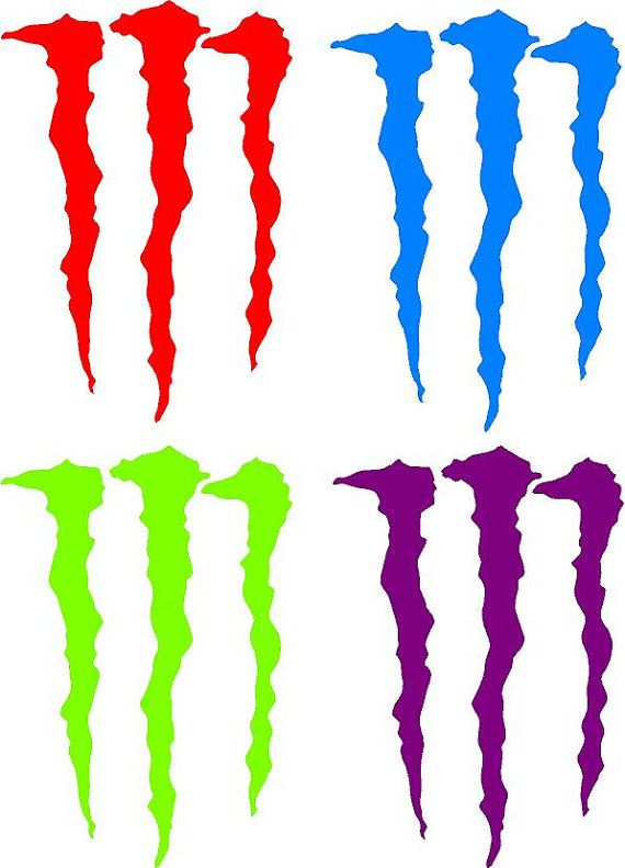 6 Monster Energy Decal Sticker Buy 2 Get 1 Free By