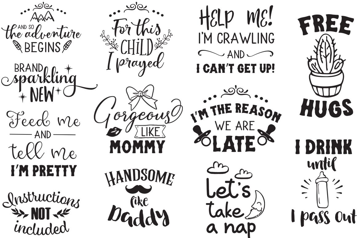 Newborn SVG Bundle (Graphic) by SVG Addict Shop Newborn