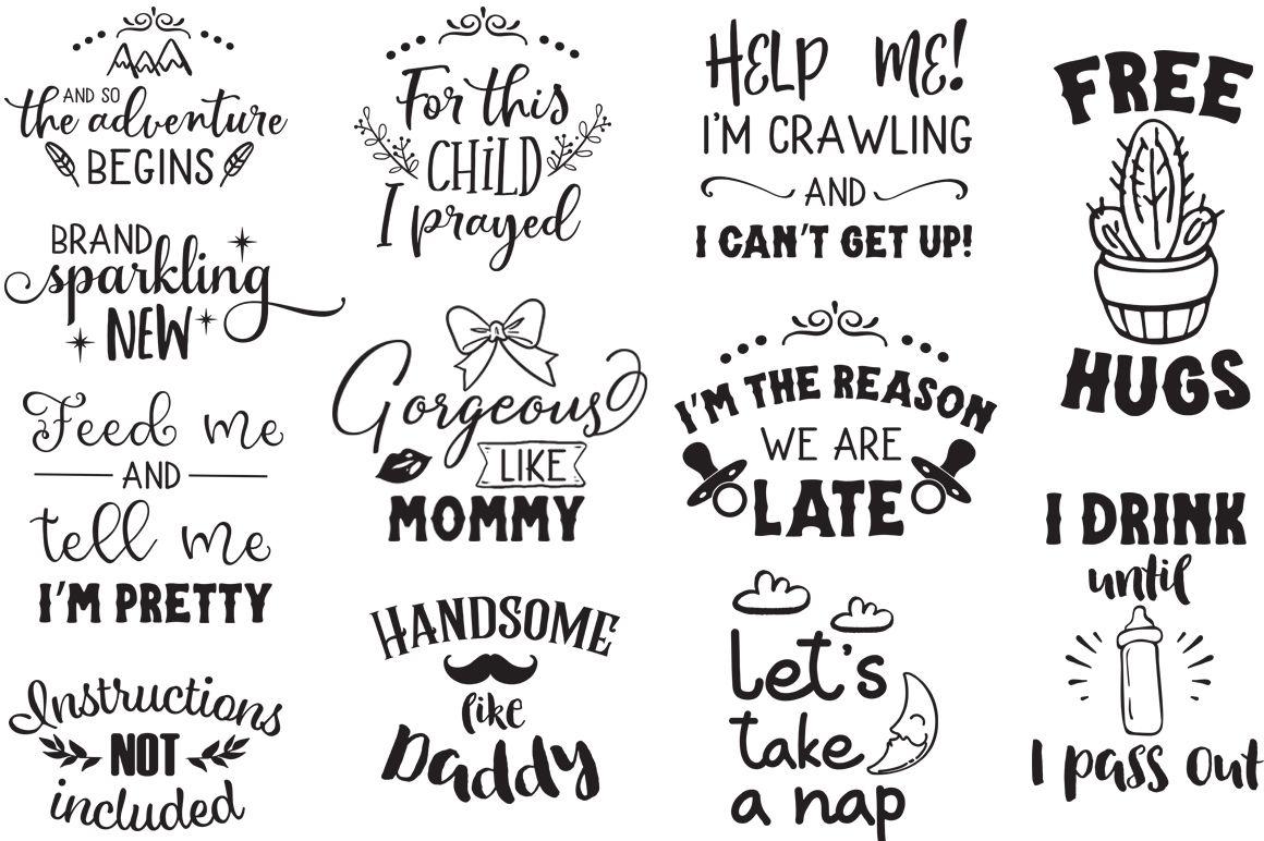 Newborn SVG Bundle (Graphic) by SVG Addict Shop Newborn
