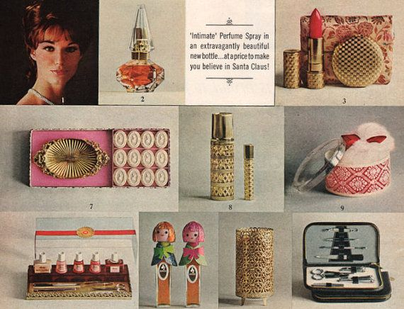 1964 Revlon Girl gift giving print ad Intimate by catchingcanaries, $8.00