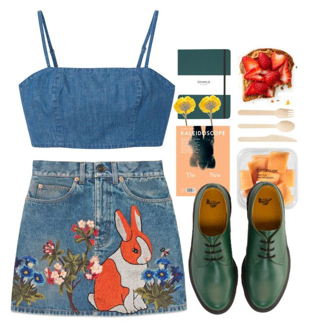"""""""🐎🐎🐎"""" by irishills ❤ liked on Polyvore featuring Shinola, Monki, Gucci and Dr. Martens"""