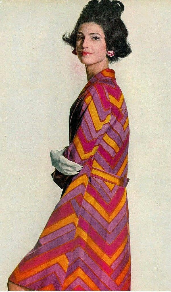 Benedetta Barzini In Jane Derby Designed By Oscar De La