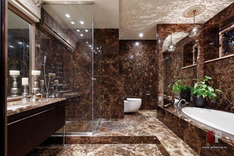 Emperador Marble Bathroom 29 India Penthouse