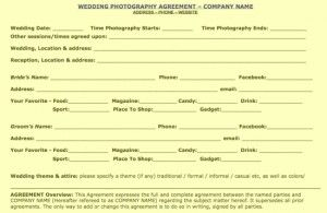 Free Business Contract Wedding Contract Sample.pdf Page 1 Of 2 300X195 Free Wedding .