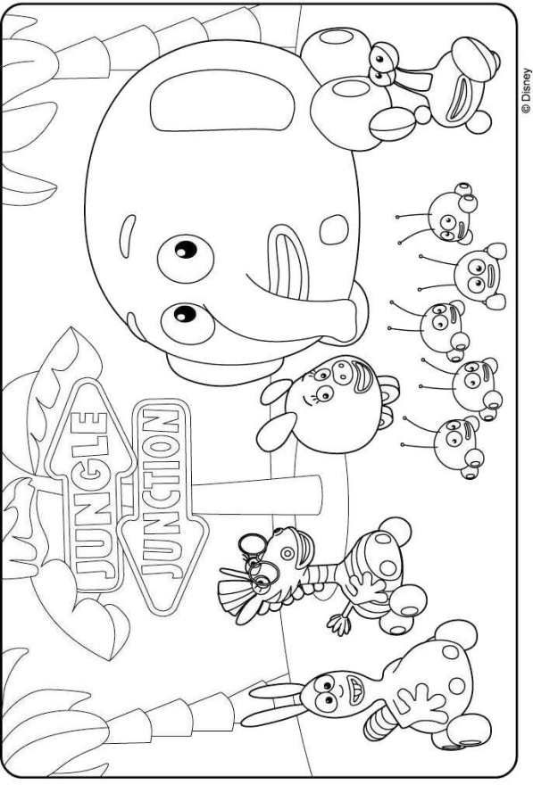 coloring page jungle junction - Jungle Junction Coloring Pages