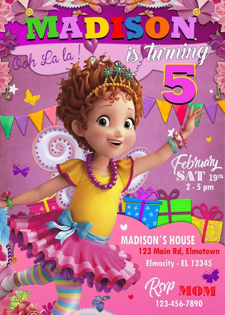 Fancy Nancy Invitation Girl For Birthday Party Disney