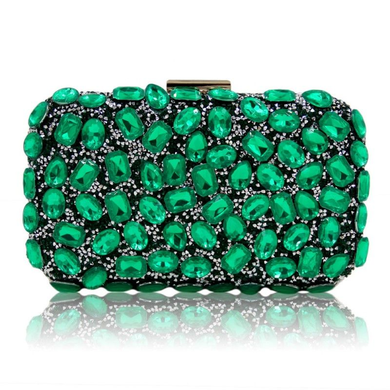 Milisente Women Evening Bag Emerald Green Clutch Purses