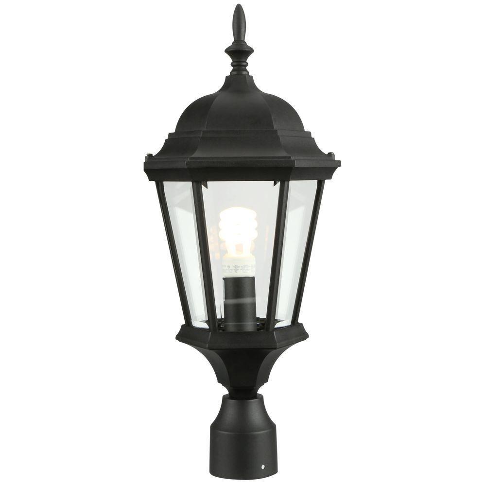 Progress Lighting Welbourne Collection Textured Black 1 Light Outdoor Post Lantern P5482 31 Lamp Post Lights Volume Lighting Outdoor Post Lights